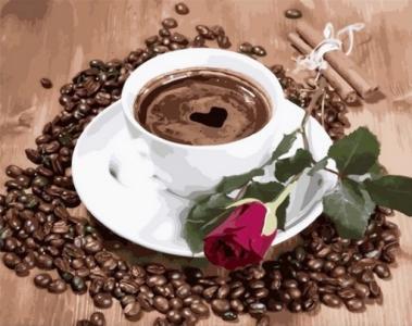 Картины по номерам Приглашение на кофе