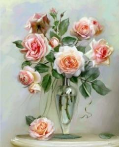 Картины по номерам Хрупкие розы