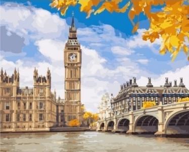 Картины по номерам Осенний Лондон