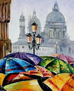Картины по номерам Яркие зонты