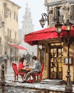 Картины по номерам Свидание в кафе