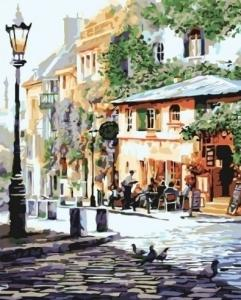 Картины по номерам Уютное кафе