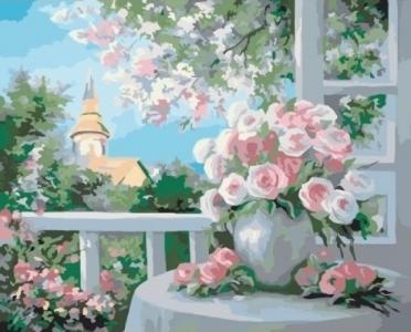 Картины по номерам Шарм цветущего сада