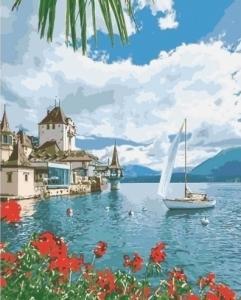 Картины по номерам Утро в Швейцарии