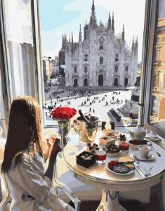 Картины по номерам Завтрак в Милане