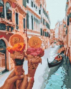 Картины по номерам Джелато в Венеции