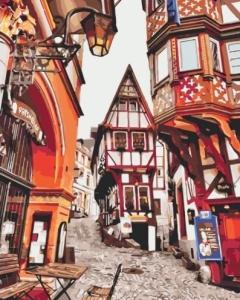 Картины по номерам Яркие улицы Германии