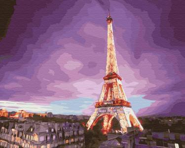 Картины по номерам Эйфелева башня на закате