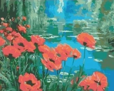 Картины по номерам Маки возле пруда