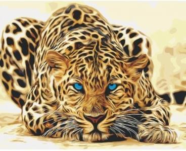 Картины по номерам Дикая кошка