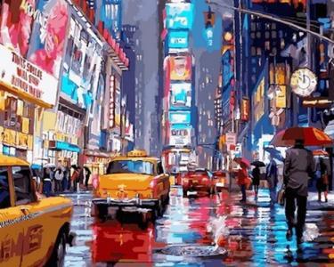 Картины по номерам Таймс-сквер. Нью-Йорк
