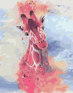 Картины по номерам Жираф аквареллю