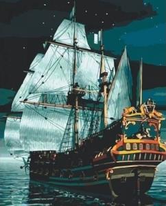 Картины по номерам Флагман ночью
