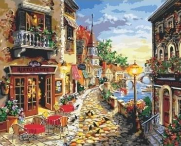 Картины по номерам Уютная улочка