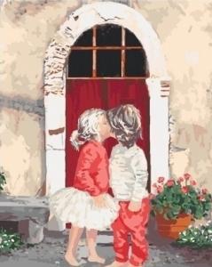 Картины по номерам Первый поцелуй 2