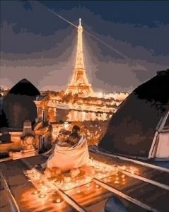 Картины по номерам Романтика ночного парижа