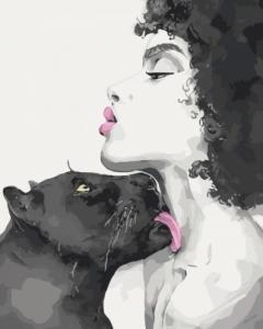 Картины по номерам Поцелуй пантеры