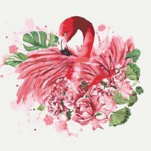 Картины по номерам Грациозный фламинго