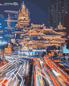 Картины по номерам Ночной Шанхай 2