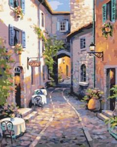 Картины по номерам Тихая улочка