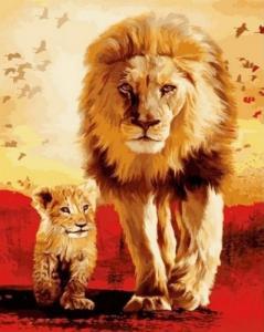 Картины по номерам Отец и сын