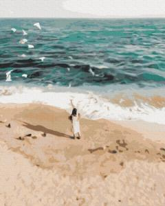 Картины по номерам Фигура на побережье