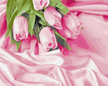 Картины по номерам Тюльпаны в шелке