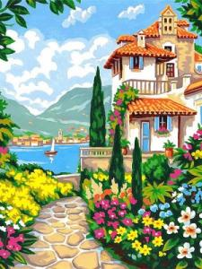Картины по номерам Сад у моря