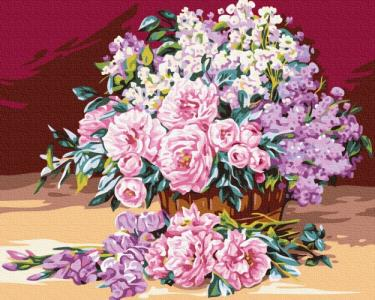 Картины по номерам Нежный розовый букет