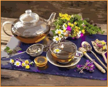 Картины по номерам Чай с цветочным медом
