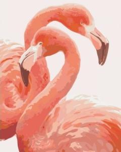 Картины по номерам Грация фламинго