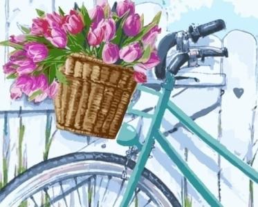 Картины по номерам Утренние тюльпаны