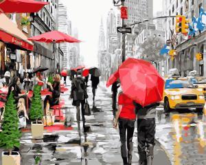 Картины по номерам Дождь в Нью-Йорке