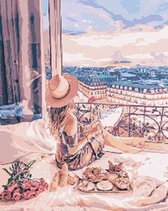 Картины по номерам Отдых в Париже