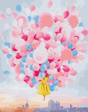 Картины по номерам Полет на шариках