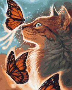 Картины по номерам Сияющий котик
