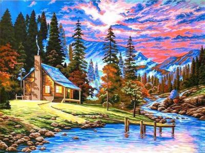 Картины по номерам Охотничий домик