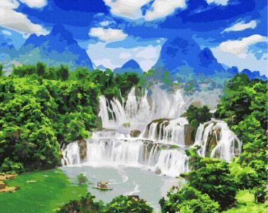 Картины по номерам Водоспад Детьян