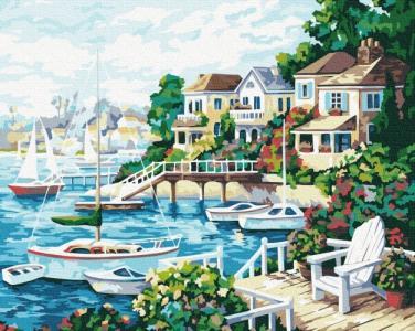 Картины по номерам Курортный город