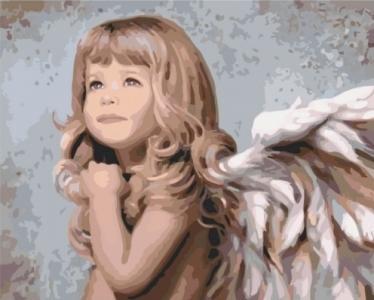 Картины по номерам Маленький ангелочек