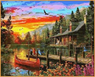 Картины по номерам Сказочное место