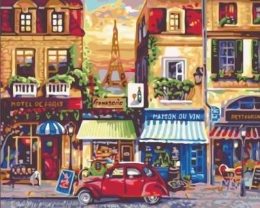 Картины по номерам Улицами Парижа