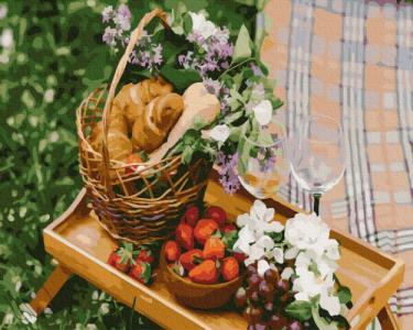 Картины по номерам Романтический пикник