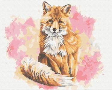 Картины по номерам Лиса красавица