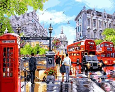 Картины по номерам Весна в Лондоне