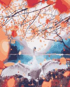 Картины по номерам Лебідка в золотих листях