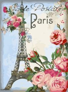 Картины по номерам Привет из Парижа