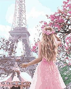 Картины по номерам Влюблённая в Париж 2