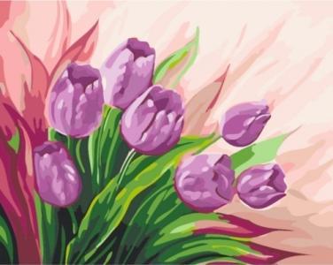 Картины по номерам Персидские тюльпаны