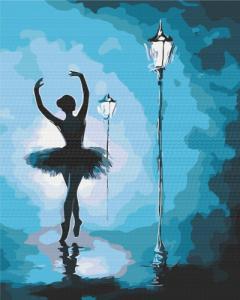 Картины по номерам Балерина в свете фонарей